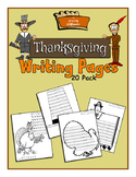 Thanksgiving Writing Story Poem Pages Papers 20 Pack