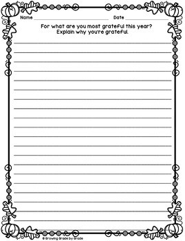 Thanksgiving Writing Super Pack! 30 No-Prep Printable Writing Prompts
