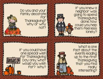 Thanksgiving Writing {Task Cards}