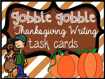 Thanksgiving Writing Task Cards