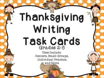 Thanksgiving Writing Task Cards