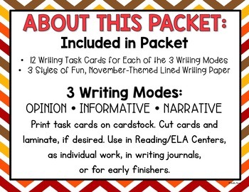 Thanksgiving Writing Prompts and Activities