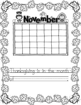 Thanksgiving Writing Template/Prompt