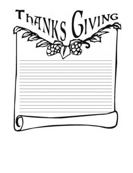 Thanksgiving Writing Templates