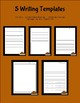 Thanksgiving Writing Templates
