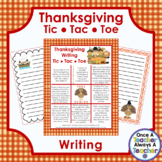 Thanksgiving Writing - Tic Tac Toe