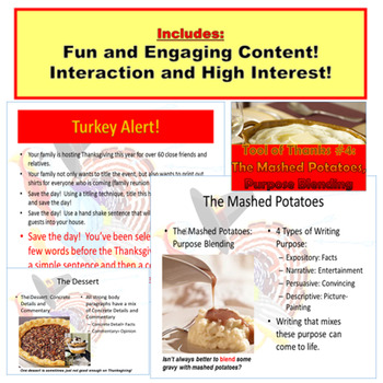 Thanksgiving : Writing Tools of Thanks PowerPoint
