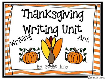 Thanksgiving Writing Unit