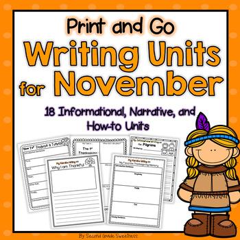 Thanksgiving Writing Units FREEBIE