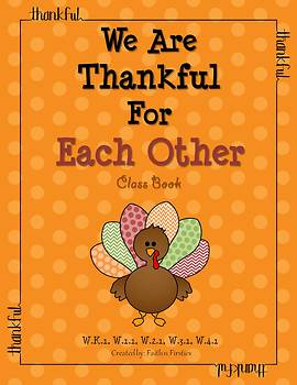 Thanksgiving Writing - We Are Thankful For Each Other Class Book