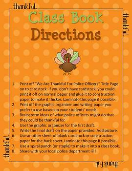 Thanksgiving Writing - We Are Thankful For Police Officers Class Book