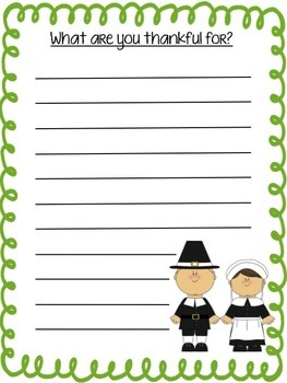 Thanksgiving Writing- What are you thankful for?