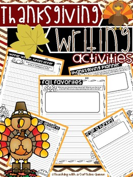 Thanksgiving Writing - Work on Writing Prompts - NO PREP