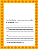 Thanksgiving Writing Worksheets Independent Centers