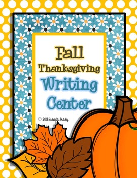 Thanksgiving Writing Workstation/Center Pack