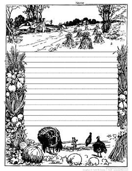 Thanksgiving Writing and Coloring Sheet