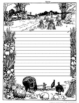 Thanksgiving Writing and Coloring Sheet