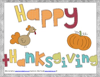 Thanksgiving Writing and Journal Activities