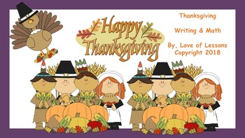 Thanksgiving Writing and Math