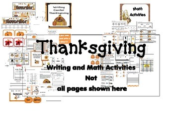 Thanksgiving Writing and Math Activities 2nd-3rd- English