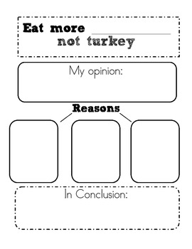 Thanksgiving Writing and Math Unit