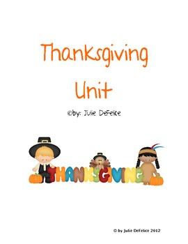 Thanksgiving Writing and Noun Sort