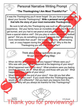 Thanksgiving Writing and Reading BUNDLE