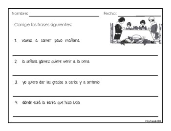 Spanish Thanksgiving Writing and Speaking Activity