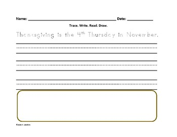 Thanksgiving Writing for Beginners--Differentiated