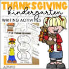 Thanksgiving Writing for Kindergarten