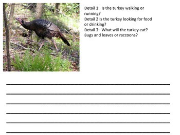 Thanksgiving Writings with Visual Supports