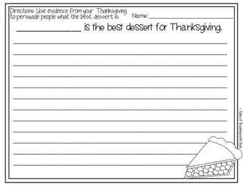 Thanksgiving Writng Prompts