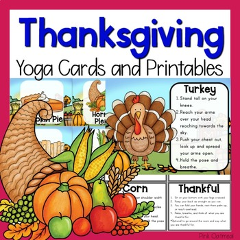 thanksgiving yoga cards and printables  tpt