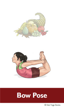 Thanksgiving Yoga Cards for Kids