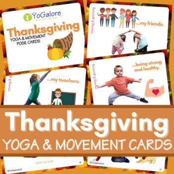 Thanksgiving Yoga & Movement Pose Cards