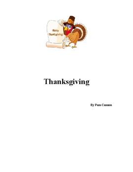 Thanksgiving - a cross curricula unit