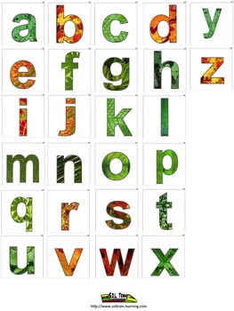 Thanksgiving Activities for Missing Lowercase Letters