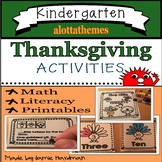 Thanksgiving activities- Kindergarten