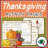 Thanksgiving activities and games