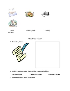 Thanksgiving activity for 3rd to 5th graders