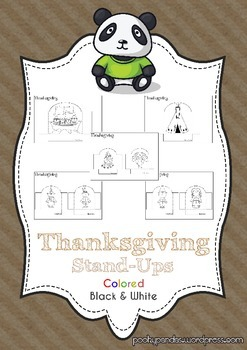 Thanksgiving activity stand ups