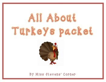 Thanksgiving All About Turkeys Packet