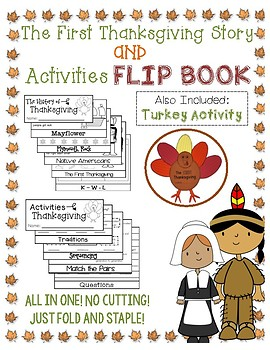 Thanksgiving and Activities Flip Book with Craft