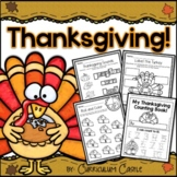 Thanksgiving Unit: Turkeys, Pilgrims and Native Americans!