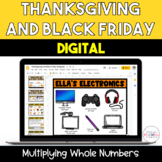 Thanksgiving and Black Friday Multiplication Activity for Google Classroom