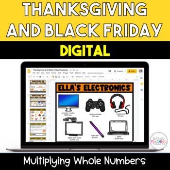Thanksgiving and Black Friday Multiplication Activity for