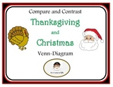 Thanksgiving and Christmas Compare and Contrast Venn-Diagram