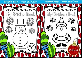 Winter and Christmas Foldable Book Bundle