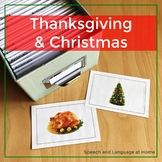 Fall Speech Therapy Photo Cards   Activities for Thanksgiving and Christmas