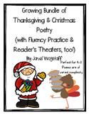 Thanksgiving & Christmas Poetry Growing Bundle Fluency Pra